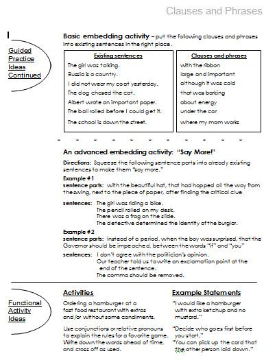 Compound and Complex Sentences | Free Language Stuff