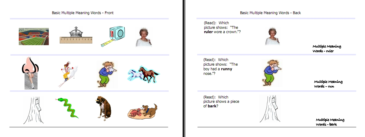 Multiple Meaning Words Activities Worksheets Word Lists And