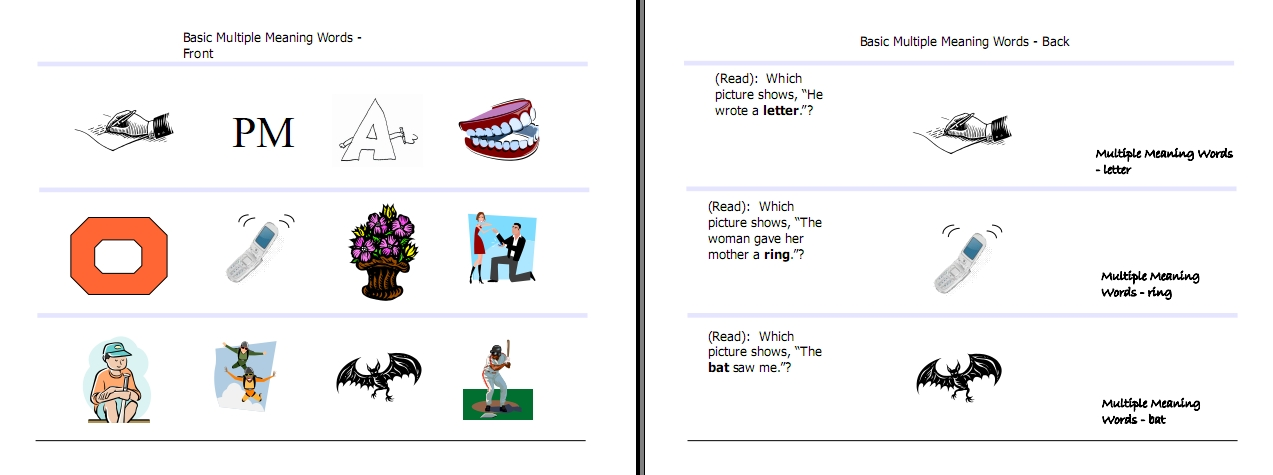 Multiple Meaning Words Activities Worksheets Word Lists and – Worksheets on Multiple Meaning Words