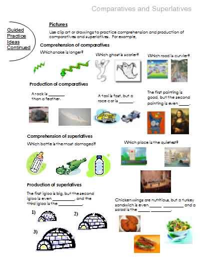 Comparatives and Superlatives | Free Language Stuff