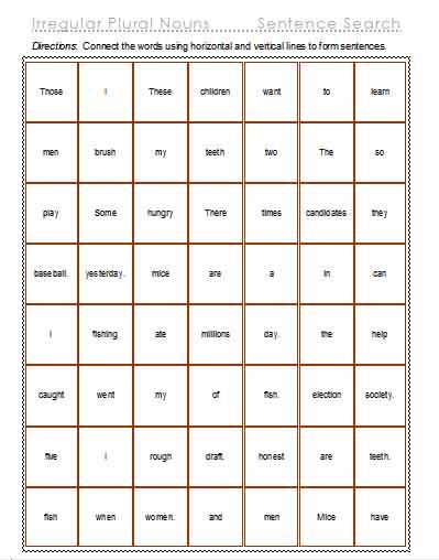 Nouns u2013 Plural Nouns and Curriculum Relevant Vocabulary ...