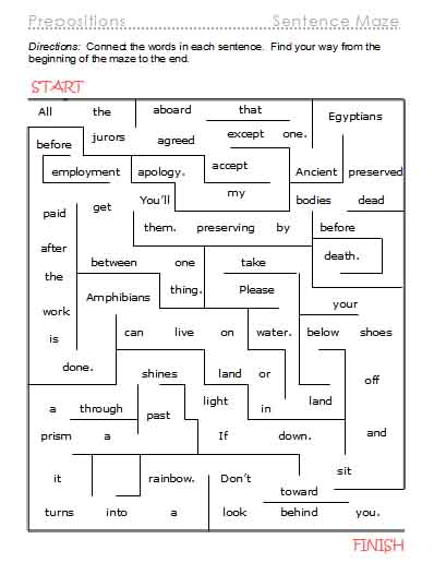 more preposition activities free language stuff