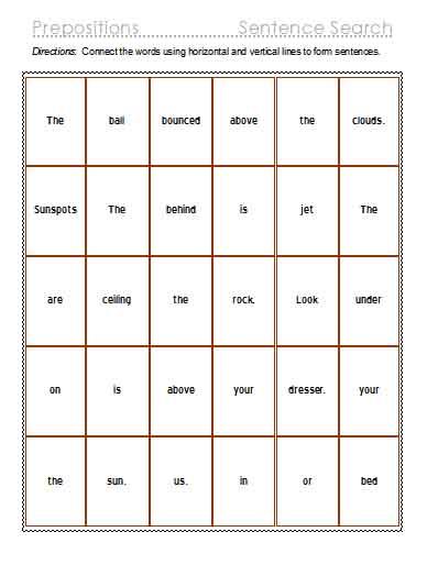 Prepositions | Free Language Stuff
