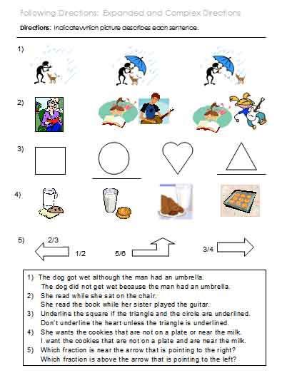 math worksheet : following multi step directions worksheets christmas following  : Following Directions Worksheet Kindergarten