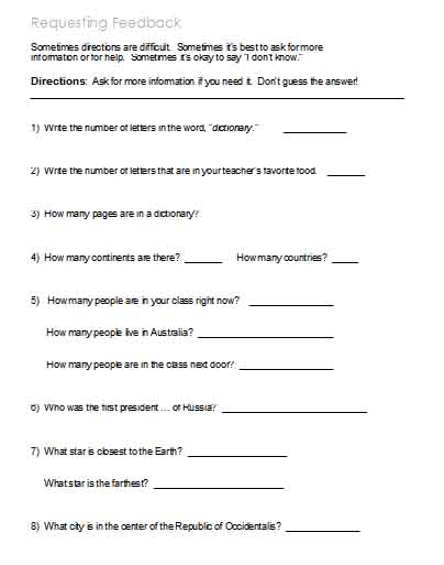 Printables Following Directions Worksheet Middle School following directions worksheets activities goals and more 1