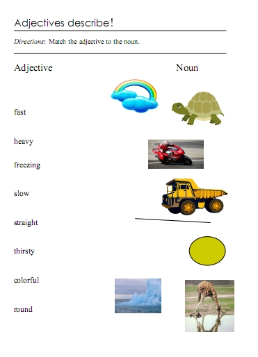 math worksheet : adjectives  word lists activities and worksheets  free  : Adjective Worksheets For Kindergarten