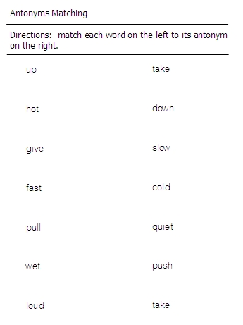 Opposite Words Worksheets For Grade 2 - Memarchoapraga