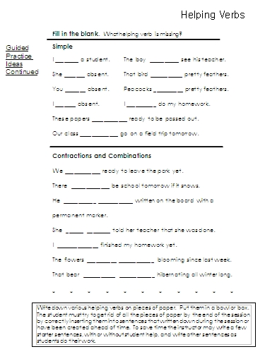 Printables Helping Verb Worksheet helping verbs word lists activities worksheets and more 7