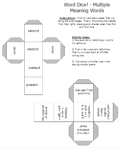 Multiple meaning words activities worksheets word lists and basic worksheets and activities ibookread PDF