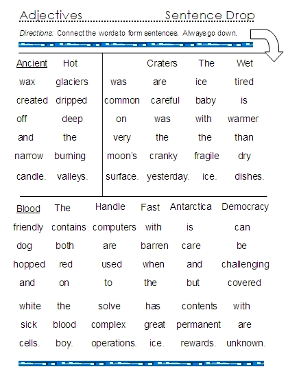 Printables Adjective For Elementary School adjectives word lists activities and worksheets free 9