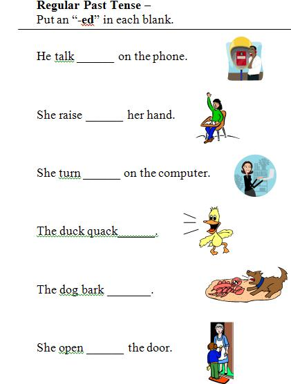 Worksheets Past Tense Worksheets For Grade 2 verbs and verb tense free language stuff 7