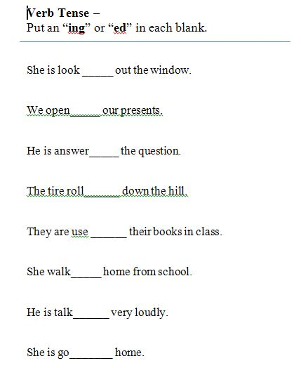 Past Tense Verb Worksheet First Grade also with past present future ...