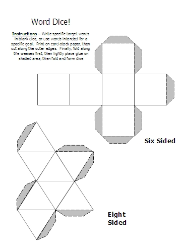 6 sided dice printable