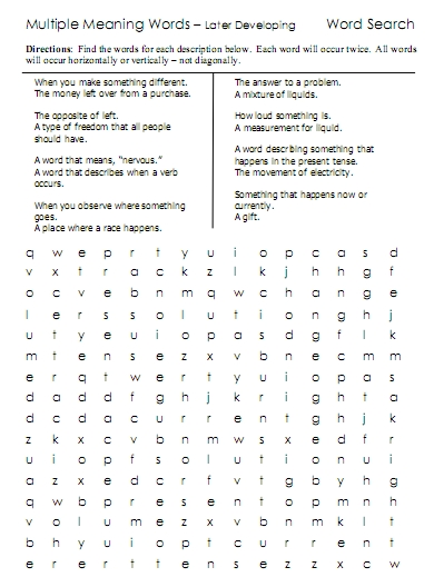 new word searches