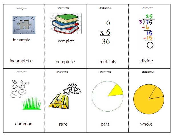 Worksheets Synonym And Antonym Word List antonyms and synonyms word lists activities worksheets 1 antonyms