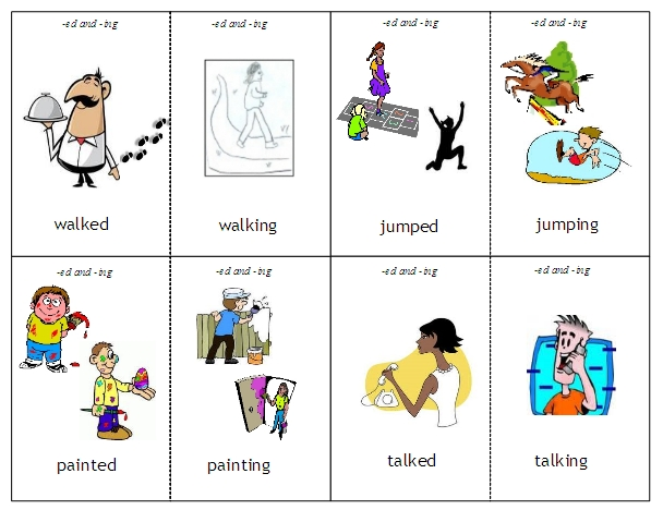 Verbs and Verb Tense – Ing Worksheets