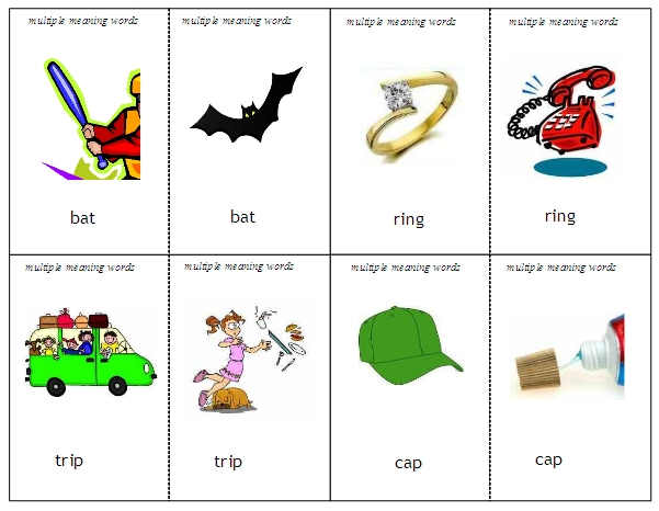 Minimal Pairs Language Activities – Multiple Meaning Word Worksheet