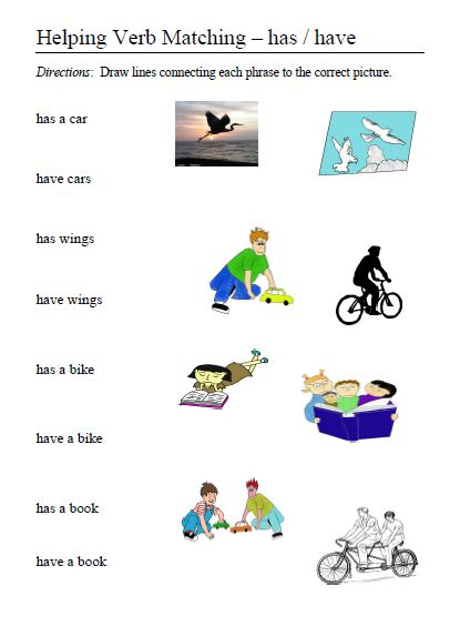 Helping verbs word lists activities worksheets and more free