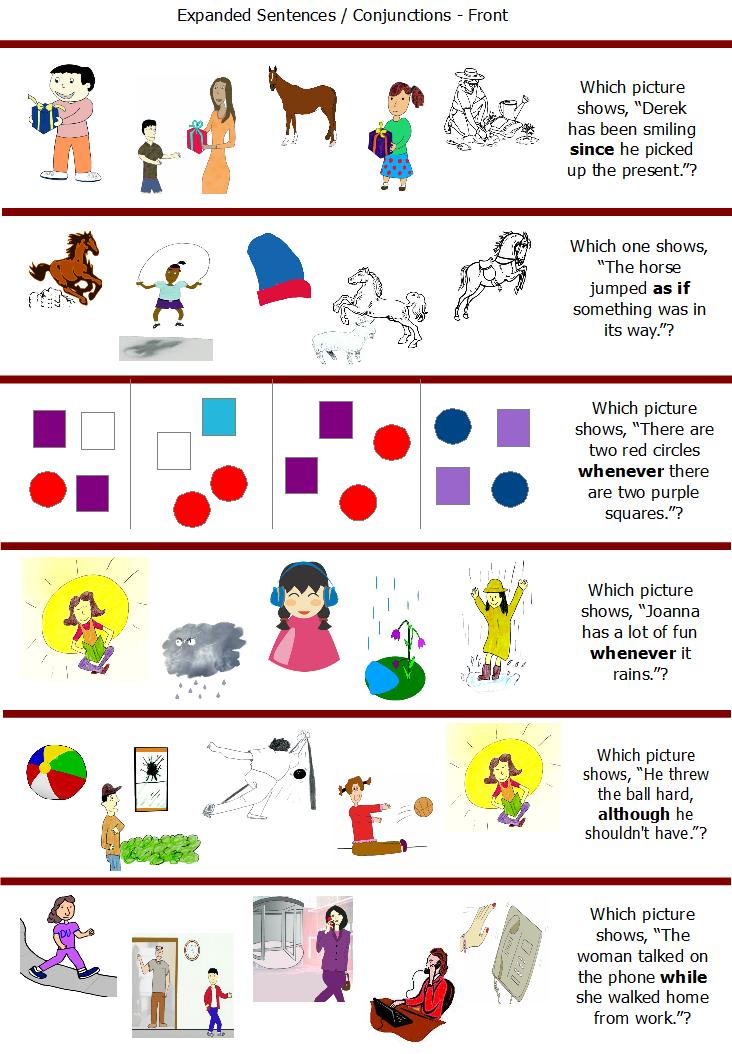 ESL Fun Grammar Games,Conjunctions Game - Although, in ...
